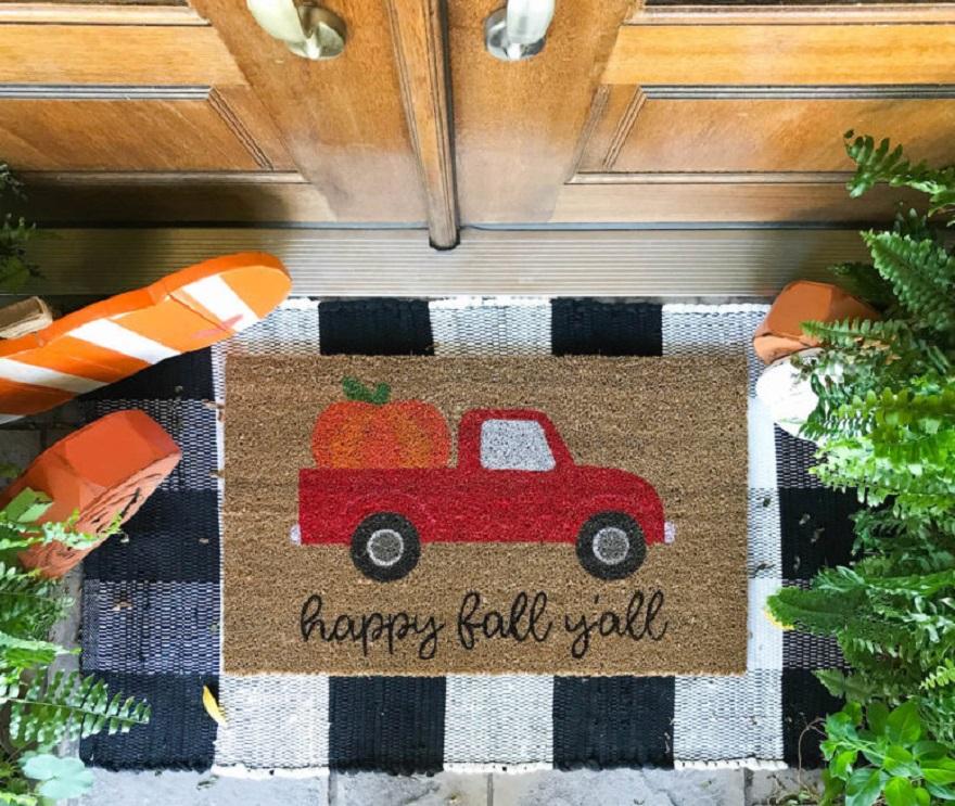 Diy doormat a van picture