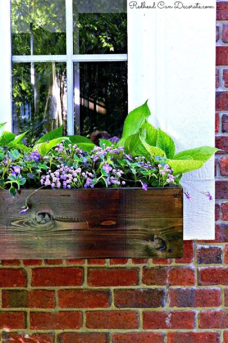 Diy mahogany window boxes Blissful DIY Window Boxes To Step Up Your Most Gorgeous Outdoor Decoration