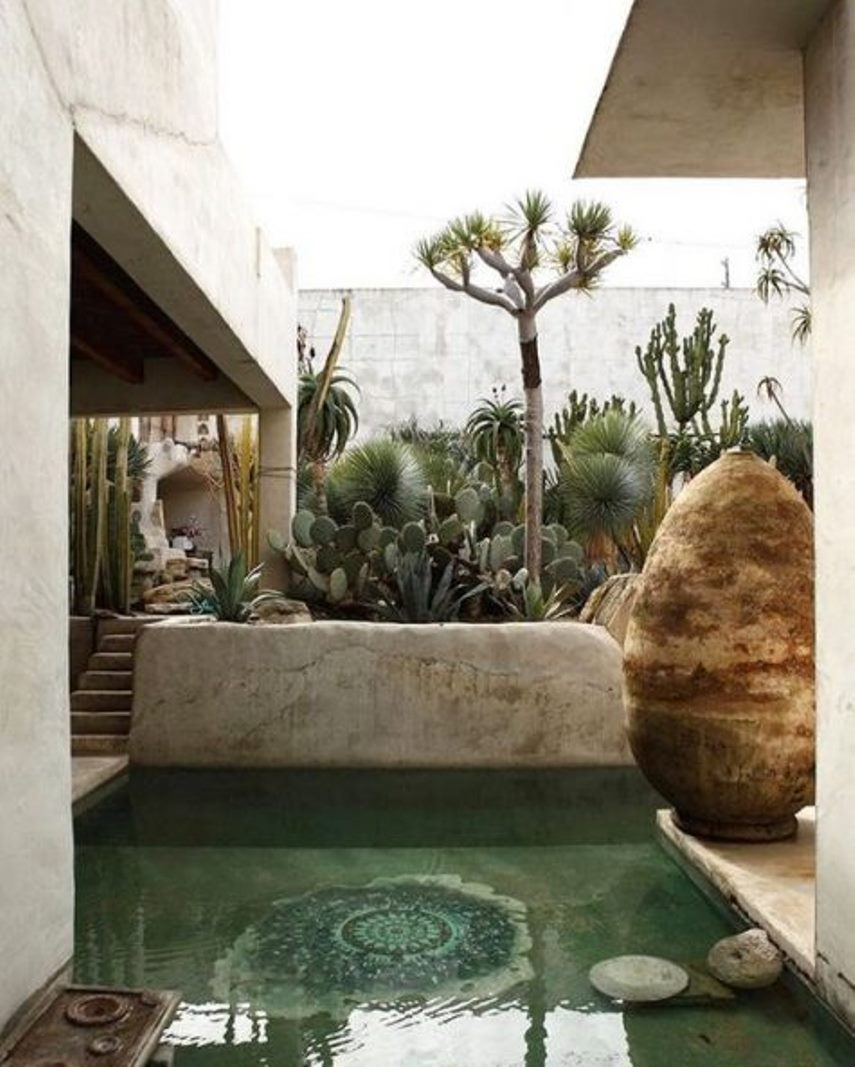 Small pool with mosaic decor