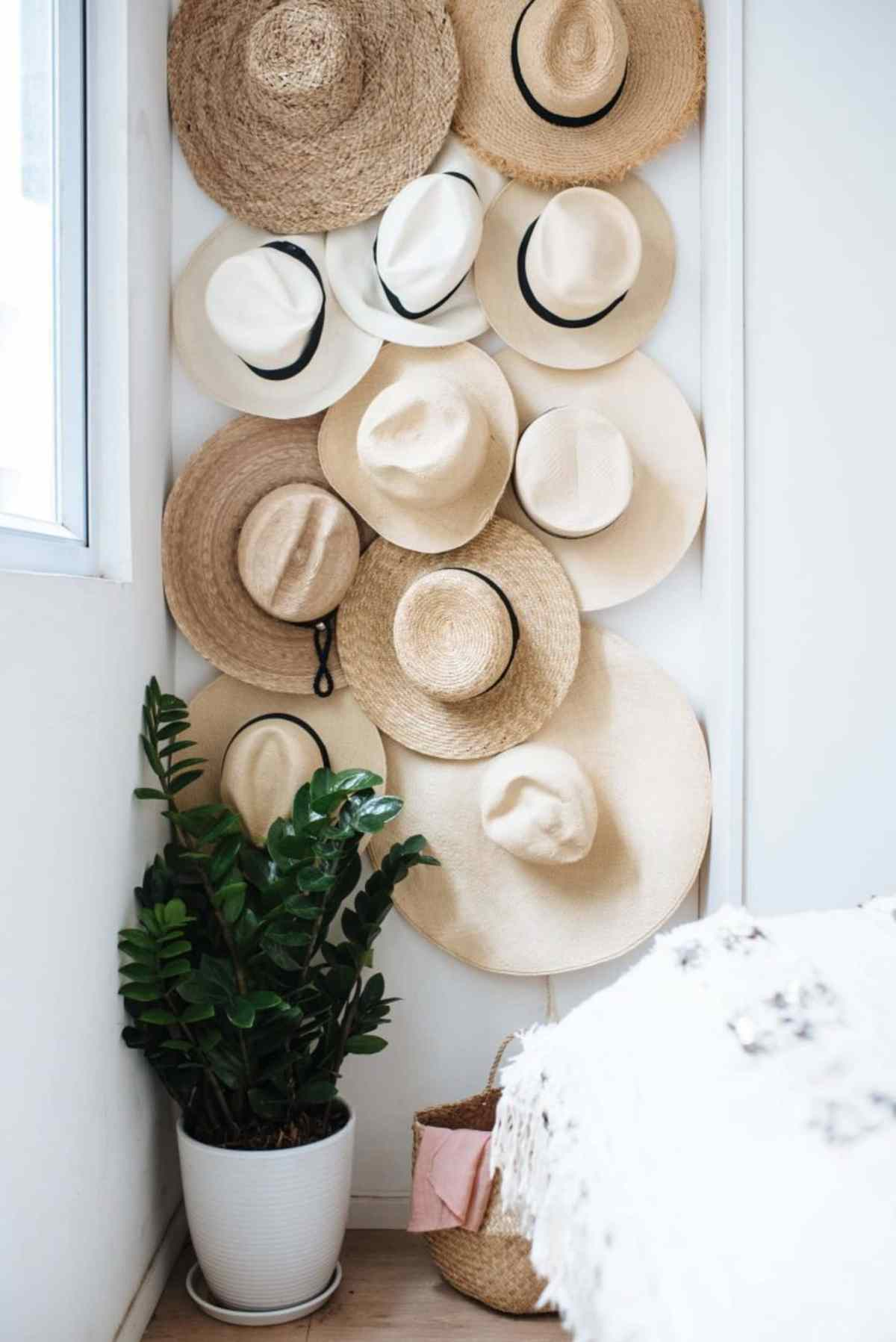 Crowded hat wall DIY Hat Rack Ideas For Hat Collection To Keep Your Space Save