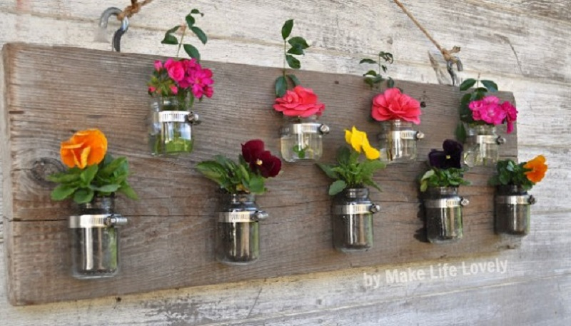 Cute baby food jar vases