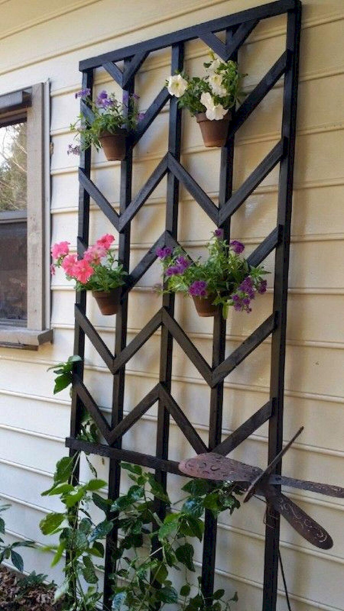 Diy chevron lattice trellis Functional DIY Trellis Ideas To Beautify Your Garden In Style