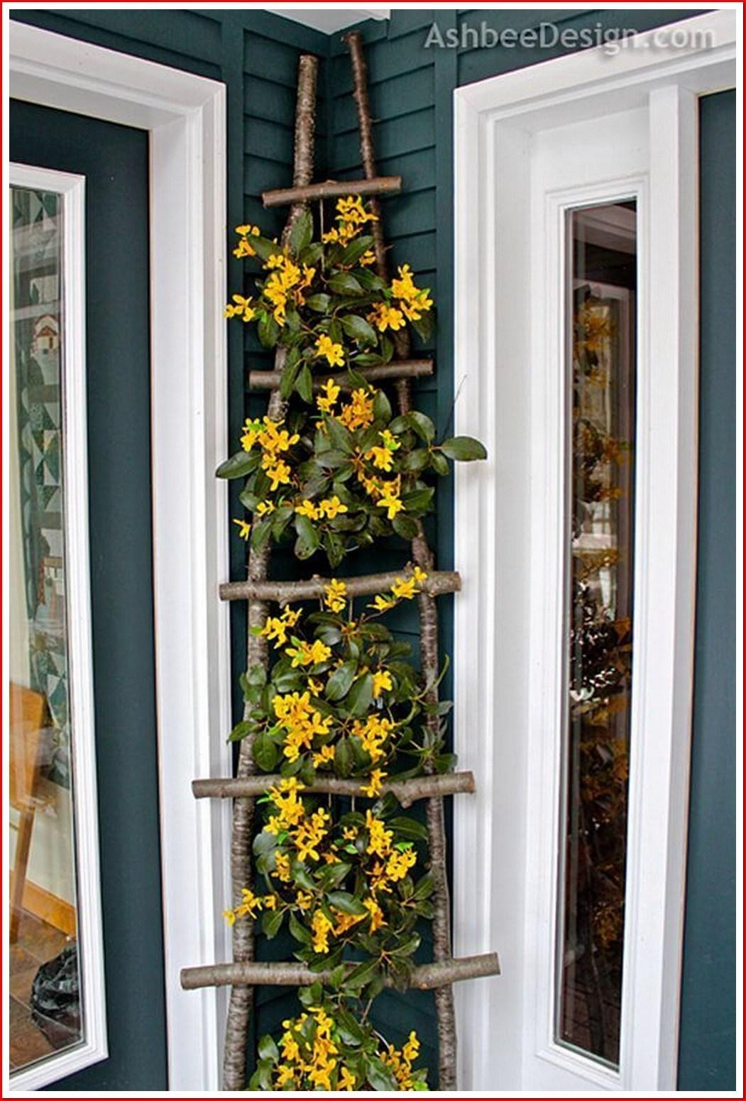 Diy trellis ladder Functional DIY Trellis Ideas To Beautify Your Garden In Style
