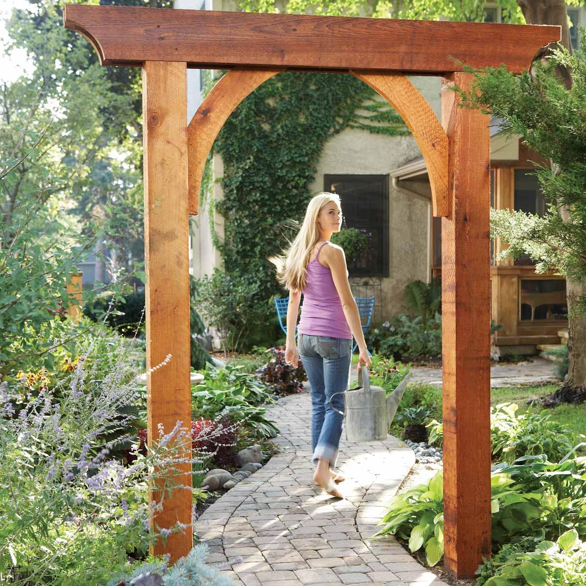 Simple garden arch DIY Garden Plans Arch Ideas To Create Beautiful Welcoming Frame