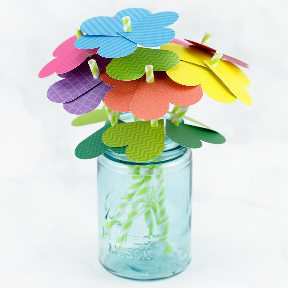A bouquet of paper heart flowers DIY Inspire Flower Crafts Ideas Your Kids Can Create With Or Without You