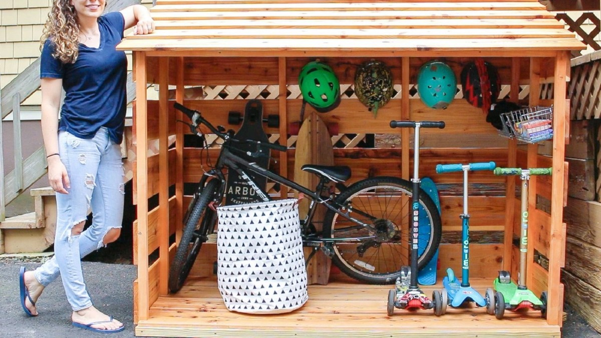 Bike storage shed Keep At Reach DIY Outdoor Storage Ideas For Everything You Want To Store
