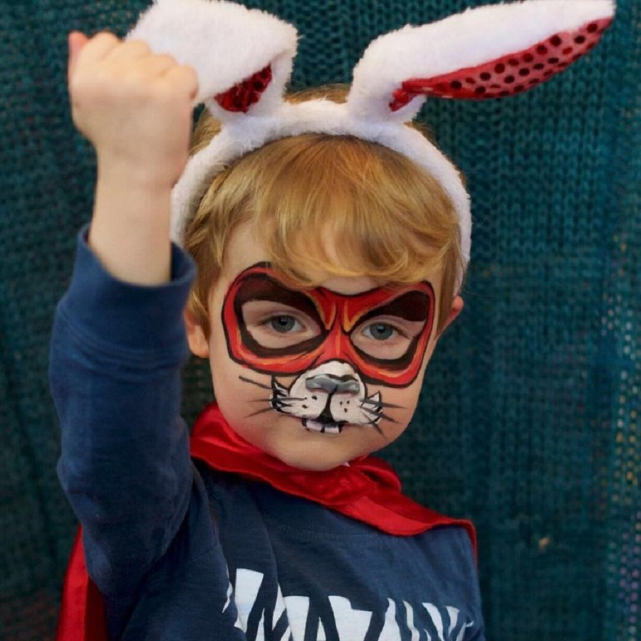 Bunny face paint Incredible Halloween Face Paint Ideas For Kids That Unartistic Parents Can Attempt