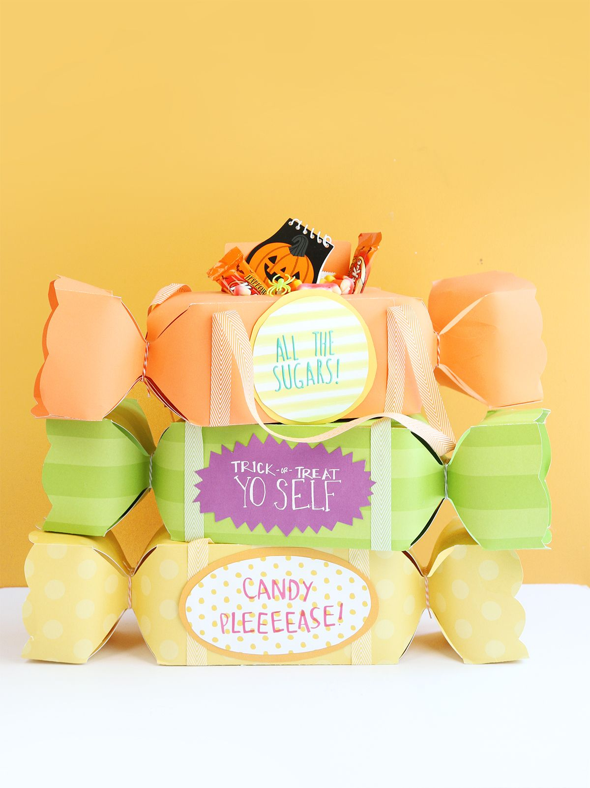 Candy shaped bags Striking DIY Halloween Trick-Or-Treat Bags As Your Crafting With Kids Projects