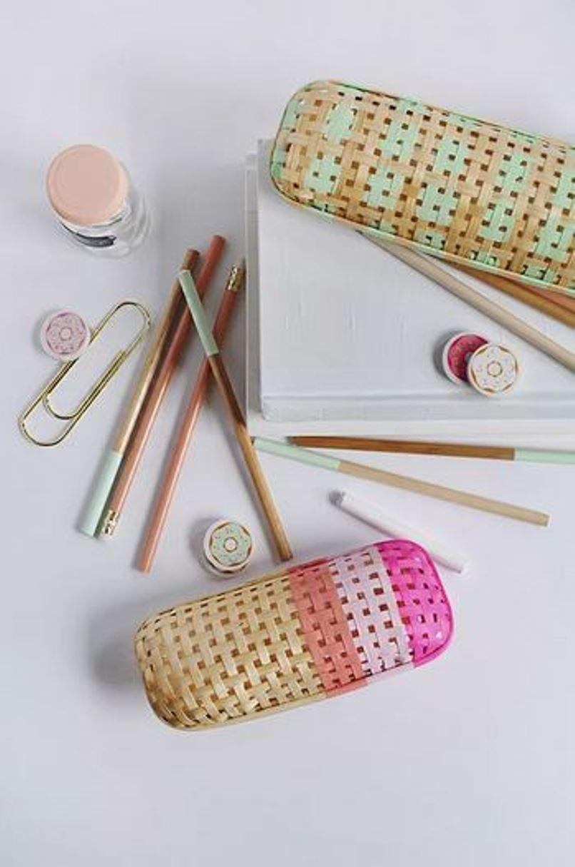 Cool rattan pencil case