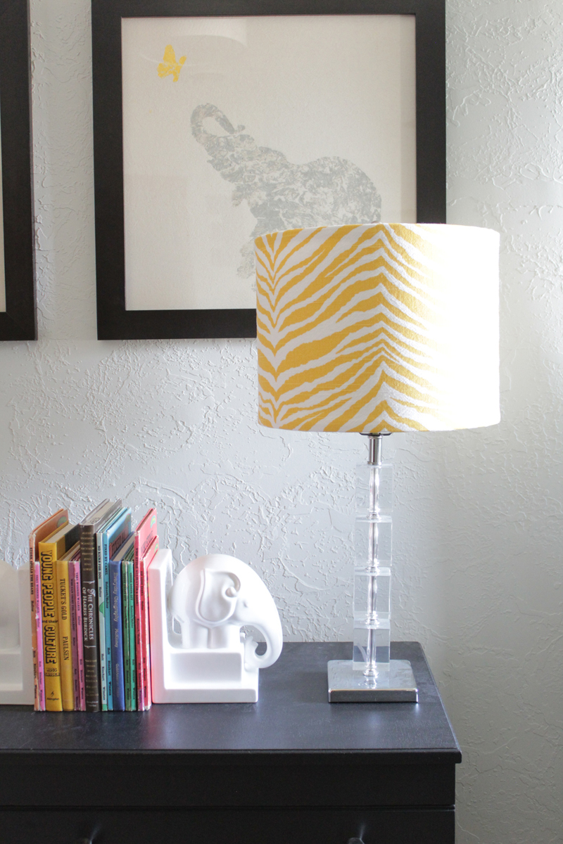 Cover your lampshade with a fun fabric Spectacular DIY Ideas To Create Foremost Dorm Room Décor