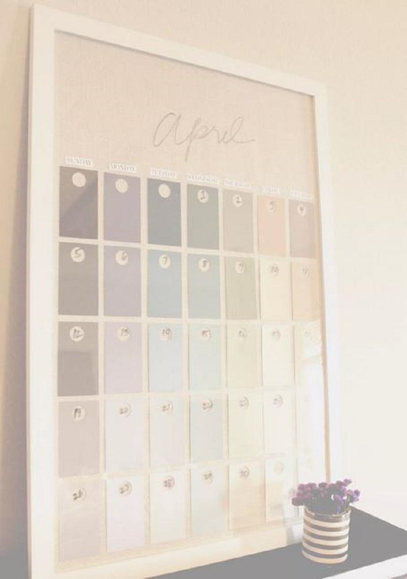 Diy framed calendar