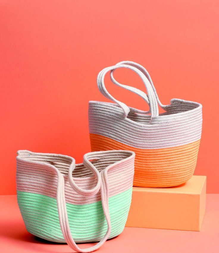 Diy rope basket tote DIY Bowls, Bins, And Baskets That Unexpectedly Gorgeous In Style And Tidy Up Your Space