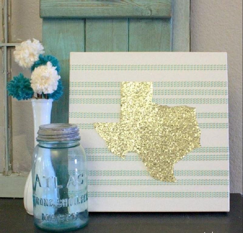 Diy sparkling home state art