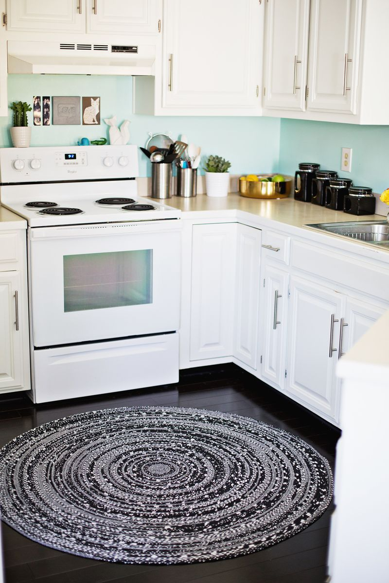 Diy woven rag rug for kitchen