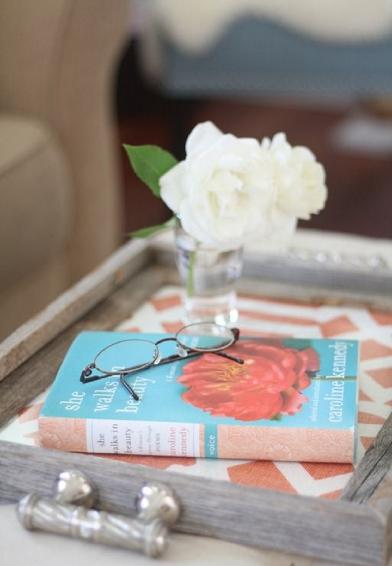 Decorative tray with contact paper Precocious DIY Ideas To Repurpose Old Picture Frames That Truly Functional And Inexpensive