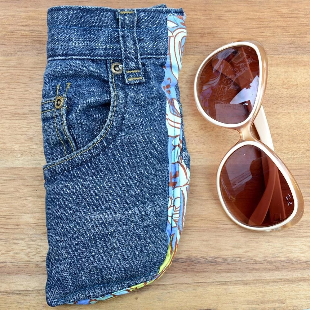 Denim sunglasses case Appealing DIY Sunglasses Case Ideas To Keep Stylish On The Cover