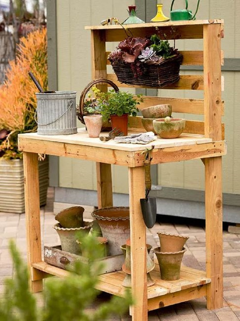 Inexpensive potting bench
