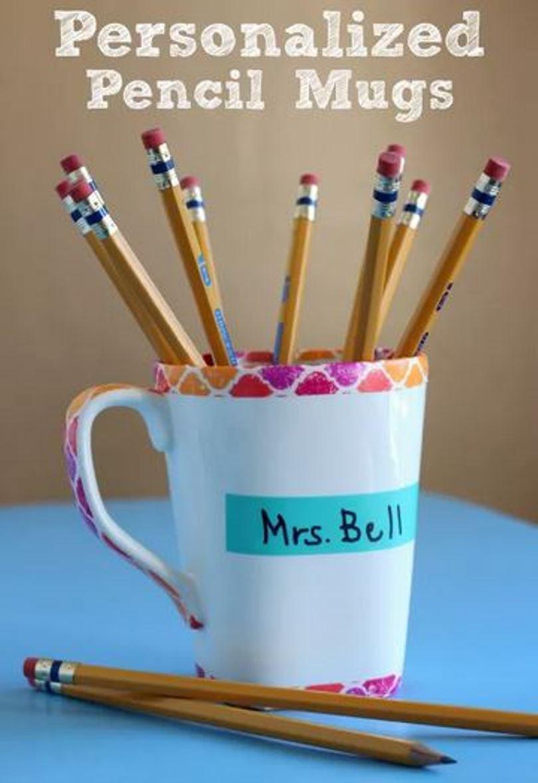Personal pencil mug