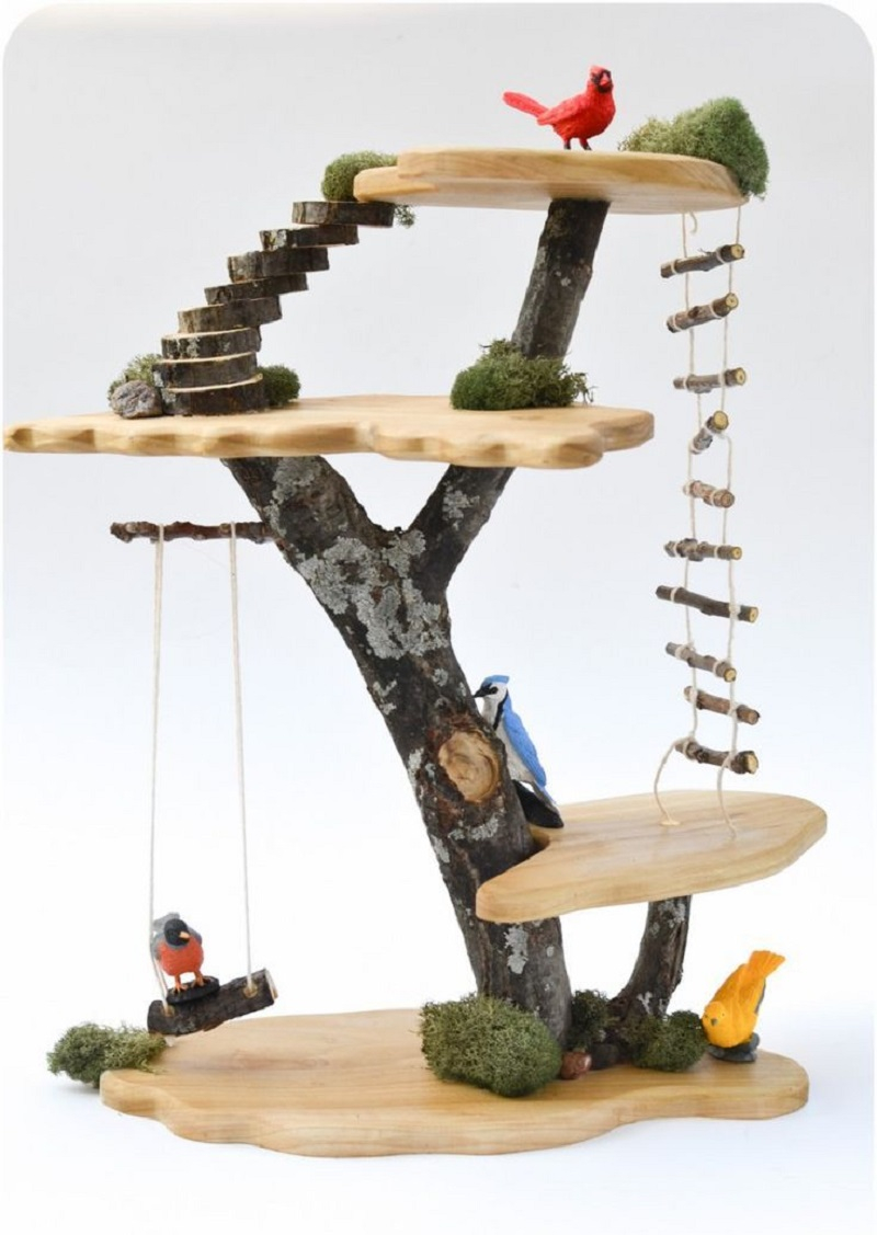 Toy treehouse Amusing DIY Dollhouse Projects Where Your Children Can Enjoy With Cherished Forever