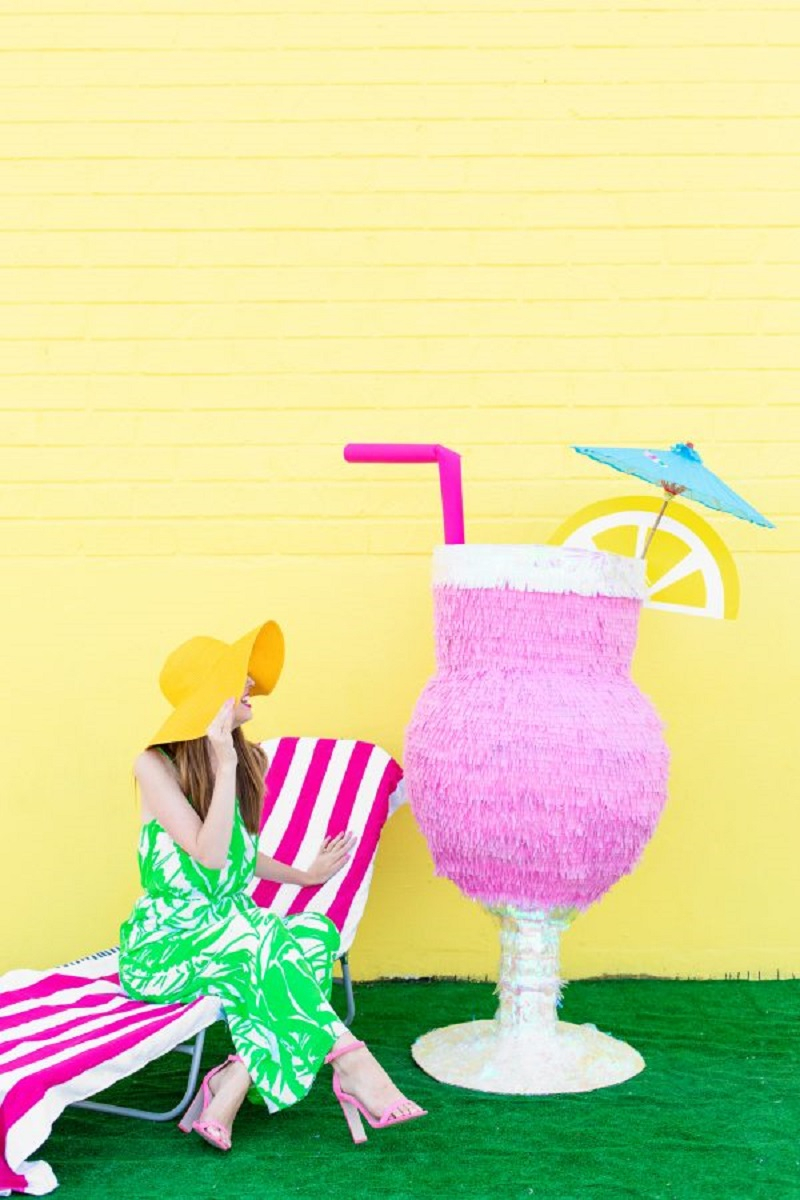 Tropical drink pinata DIY Pinatas For Every Kind Of Party You Can Make At Home