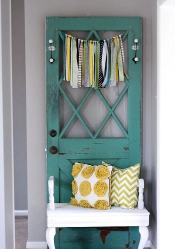 Antique door and bench combo Innovative DIY Ideas Of Reuse Old Doors For Useful Item Projects