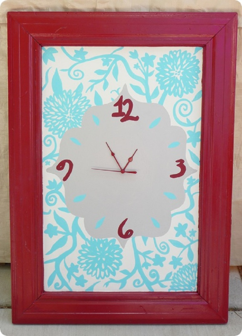 Beautiful cabinet door clock