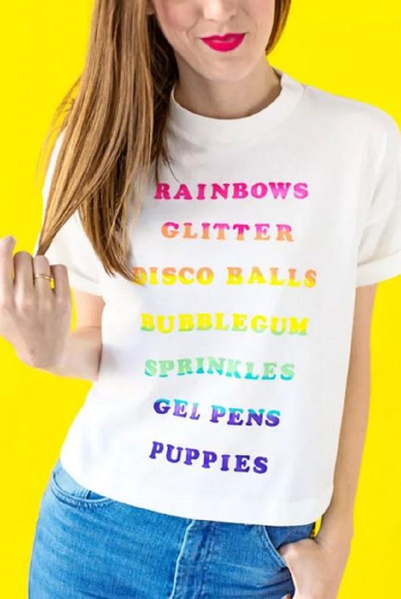 Beautiful rainbow for tee