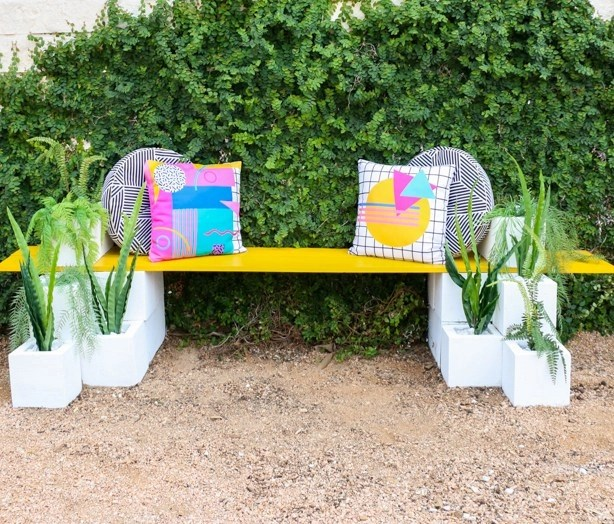 Bench with built-in planters Pretty Fresh DIY Planters You Can Create From Scratch Or Recycled Materials
