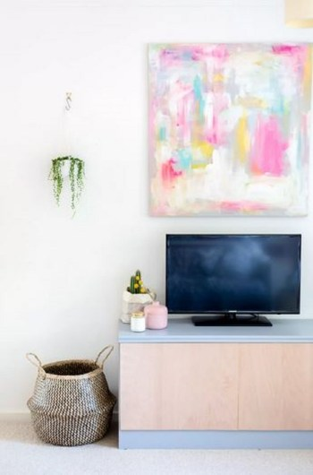 Colorful board for living room