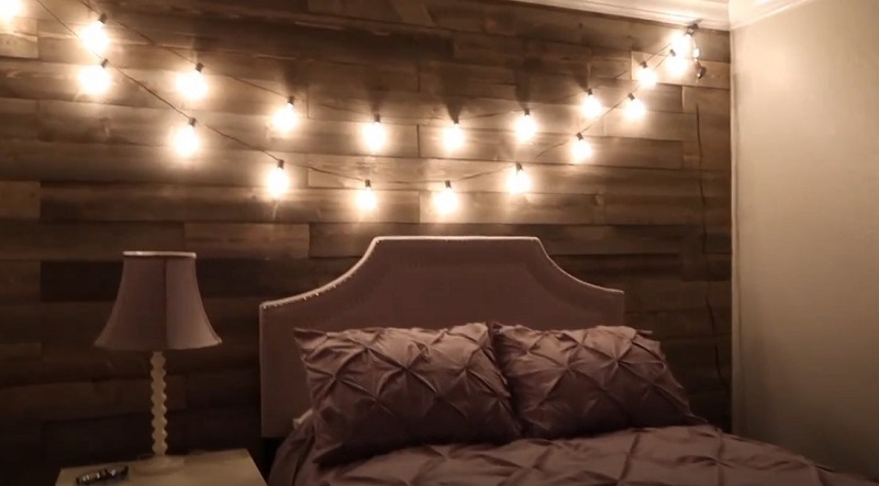 Create a diy rustic wood wall