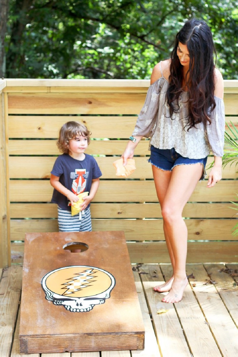 Custom cornhole boards DIY Cornhole Board Plans You Can Create Now For Your Backyard