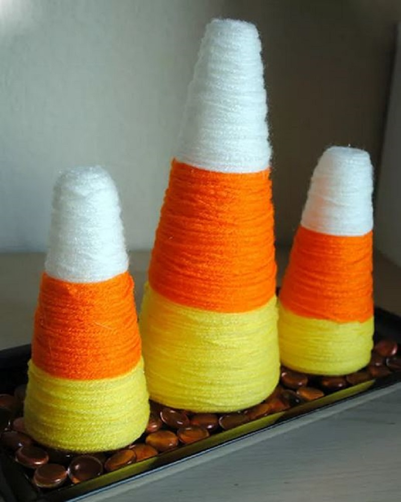 Diy candy corn decoration