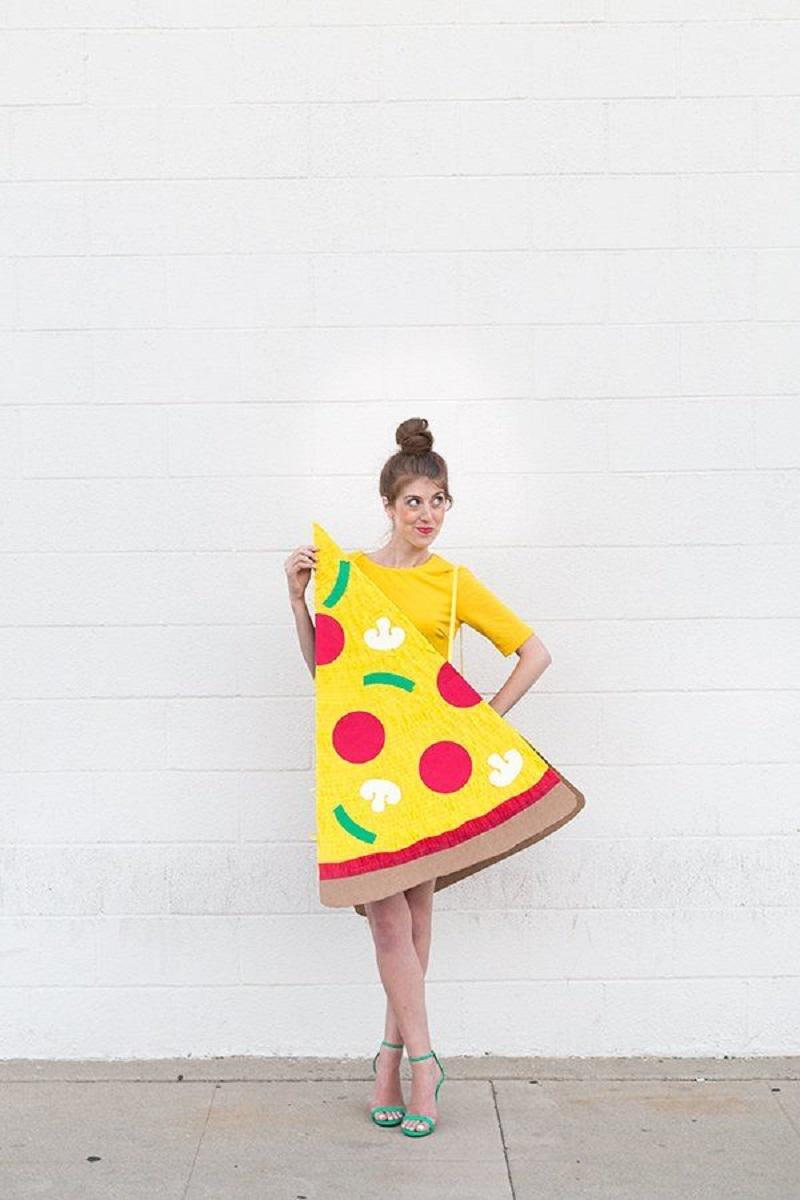 Diy pizza slice DIY Tantalizing Food Costume Ideas To Have Tempting Halloween Celebration