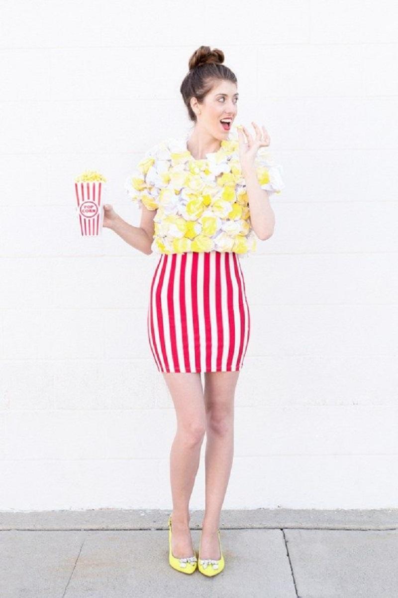 Diy popcorn costume DIY Tantalizing Food Costume Ideas To Have Tempting Halloween Celebration