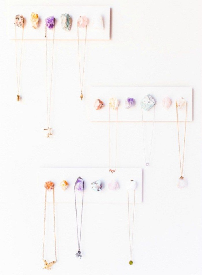 Diy raw crystal necklace display Unforgettable DIY Gift Ideas You Can Create For Someone Close To You