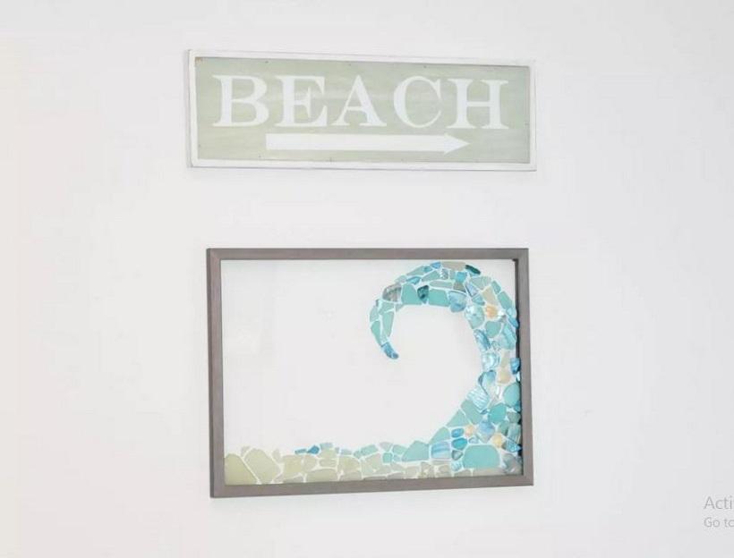 Diy sea glass window art