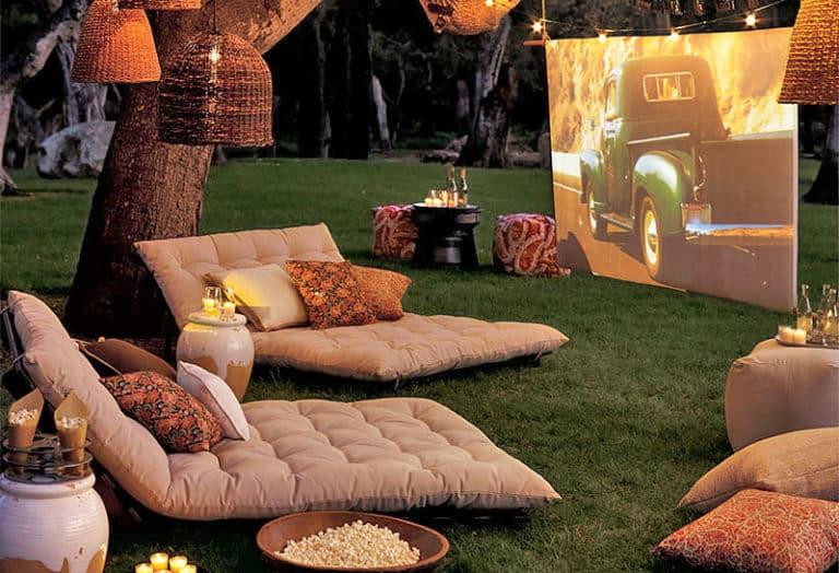 Garden cinema DIY Garden Ideas To Serve A Playhouse For Your Family Member