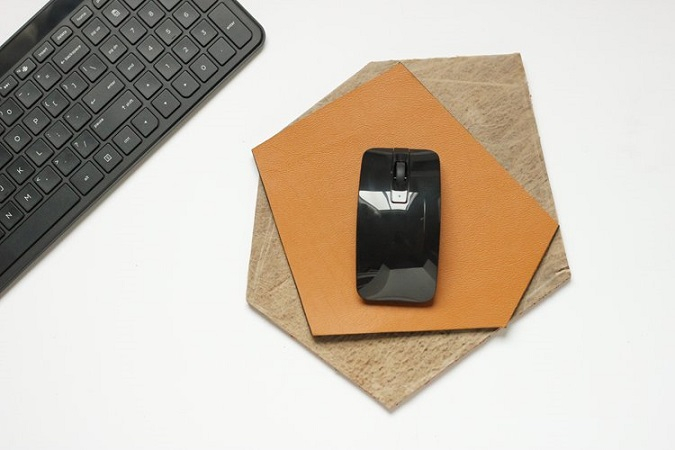 Geometric leather mouse pad DIY Never Boring Mouse Pad Ideas With Simple Materials