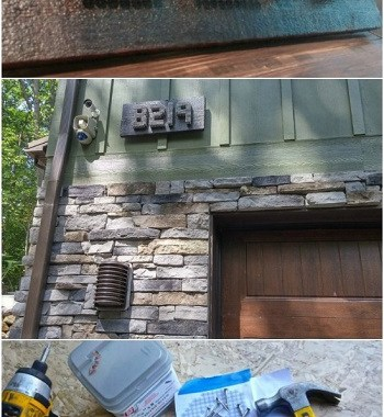 Industrial house numbers with stainless steel DIY Unique Ideas of House Number You Can Create To Advance Your Home Presentation