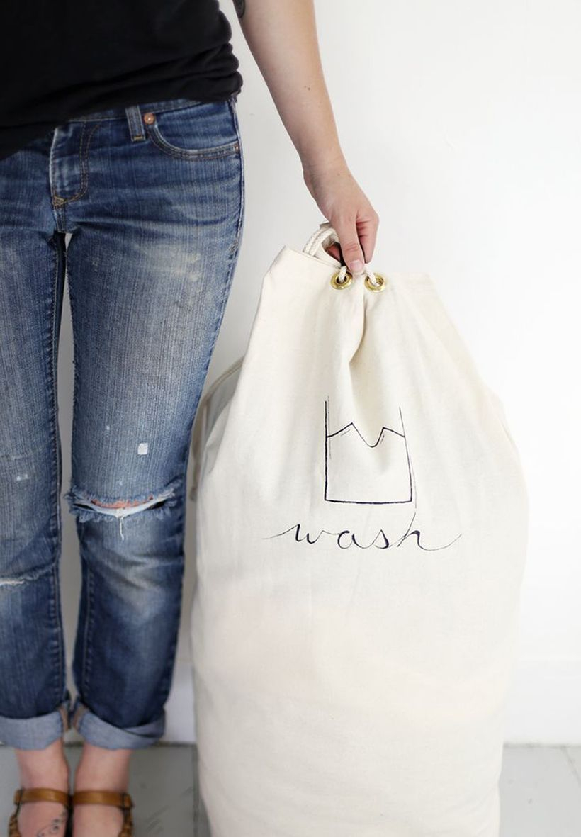 Laundry bag DIY Little Action But Big Impact For Your Laundry Room Ideas