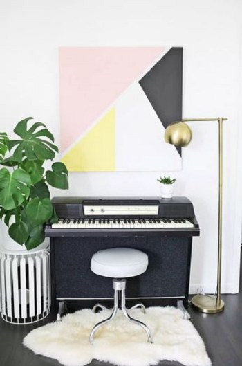 Modern abstract art for living room