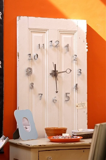 Narrow pantry door study desk timepiece Innovative DIY Ideas Of Reuse Old Doors For Useful Item Projects