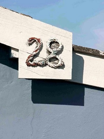 Rustic cottage rope numbers DIY Unique Ideas of House Number You Can Create To Advance Your Home Presentation