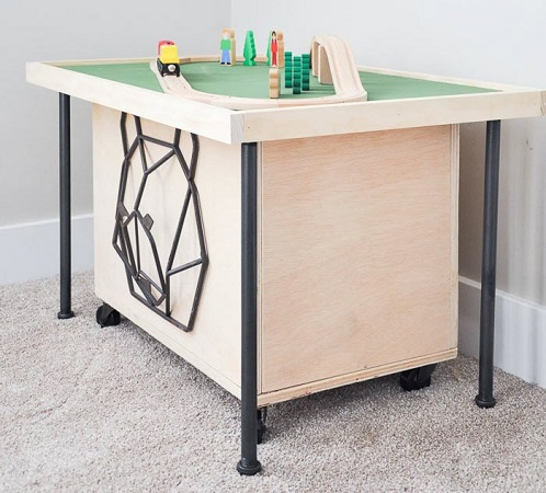 Space saving diy train table DIY Easy Build Kids Table And Chair Ideas That Not Require Skill Level