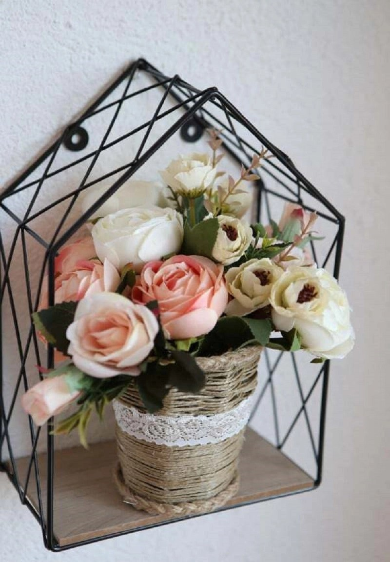 Twine covered vase