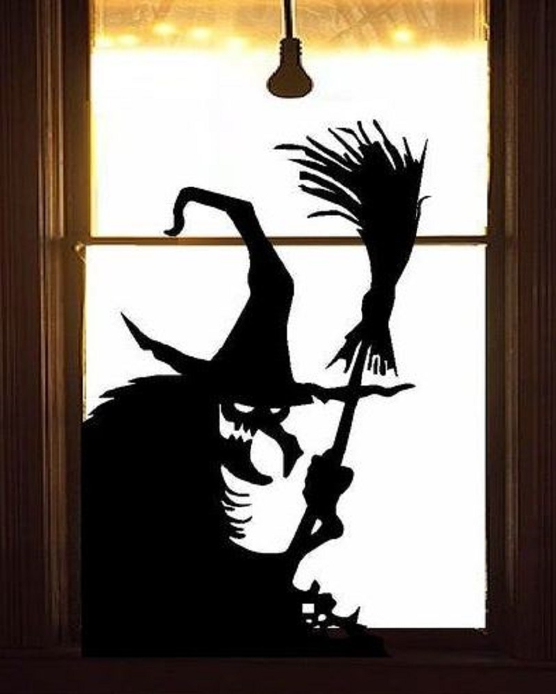 Wicked witch window art