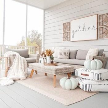 Cozy neutral porch stylish
