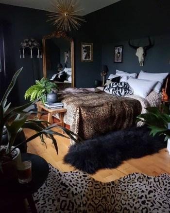 Glam moody bedroom
