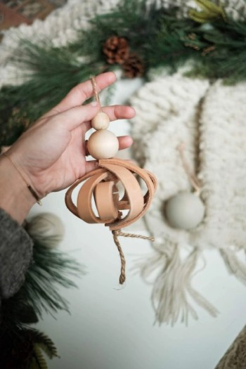 3d leather christmas ornaments