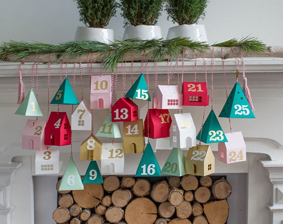 Advent calendar village DIY Spellbinding Advent Calendars That Will Ge You So Excited For Christmas